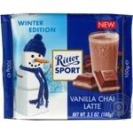 Шоколад Ritter Sport молочный с ванильной начинкой чай-латте 100г
