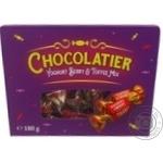 Конфеты Chocolatier ассорти с фруктово-йогуртовой начинкой и начинкой тоффи 180г