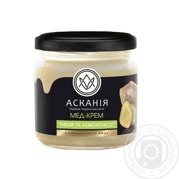 Askania lemongrass and ginger honey-cream 250g - buy, prices for Novus - image 1