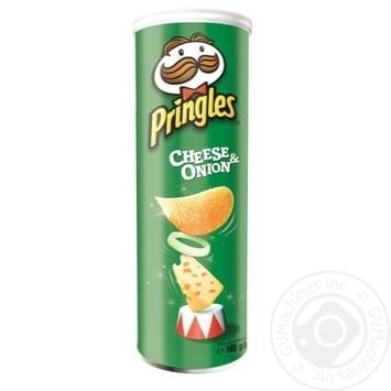 Чипсы Pringles Сыр и лук 165г - купить, цены на Фуршет - фото 1