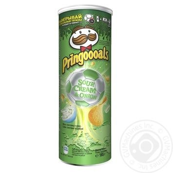 Pringles With Sour Cream And Onion Taste Potato Chips - buy, prices for Novus - image 1