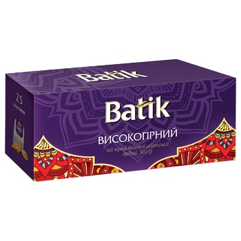 Чай черный Batik высокогорный 2г*25шт