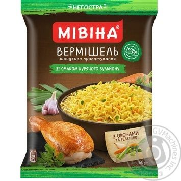 Mivina Noodles with chicken flavour non-spicy 60g - buy, prices for Novus - image 1