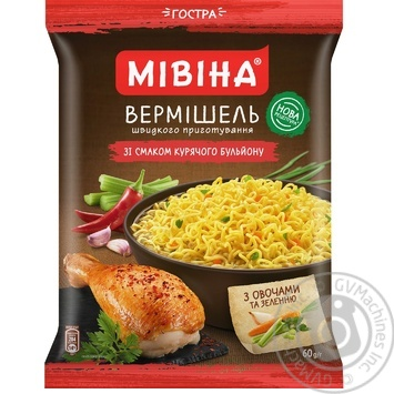 Mivina Hot Instant Noodles With Chicken Flavour 60g - buy, prices for Novus - image 2
