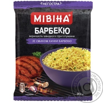MIVINA® Barbecue Duck flavoured instant noodles 59,2g - buy, prices for MegaMarket - image 1