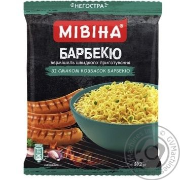 MIVINA® Barbecue Sausage flavoured instant noodles 59,2g - buy, prices for MegaMarket - image 1