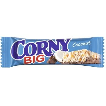 Corny With Milk Chocolate And Coconut Cereal Bar 50g - buy, prices for Auchan - image 1