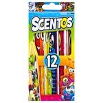 Scentos Fragrant Colored Pencils Set 12pcs