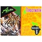 Пластилін Economix Afrika 8 кольорів 160г