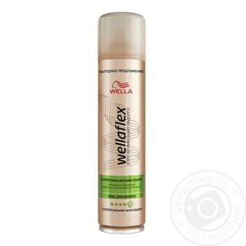 Лак Wellaflex супер сильная фиксация для волос 400мл - купить, цены на Фуршет - фото 2