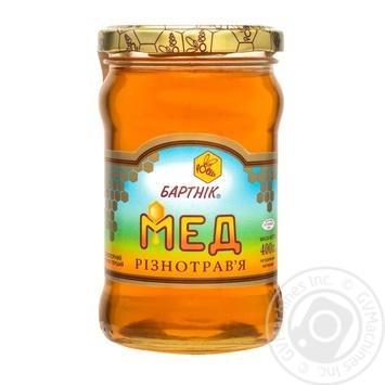 Мед цветочный разнотравье 400г Бартник - купить, цены на МегаМаркет - фото 1