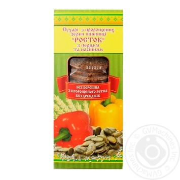 Сухарі УкрЕкоХліб Росток з пророщеної пшениці з перцем та насінням 150г - купити, ціни на Метро - фото 1