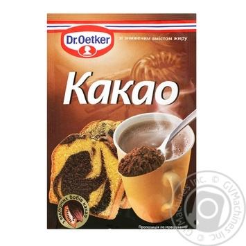 Какао Др.Оеткер порошок с пониженным содержанием жира 50г - купить, цены на Метро - фото 1