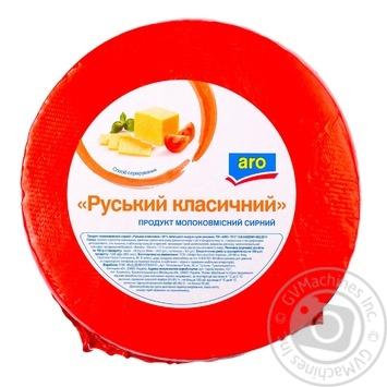 Продукт молокосодержащий сырный Аро Русский классический 50%