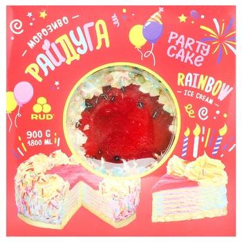 Морозиво-торт Рудь Райдуга 900г - купити, ціни на CітіМаркет - фото 1