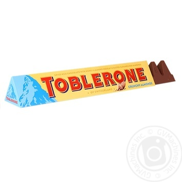 Шоколад молочний Toblerone з солоним карамелізованим мигдалем та медово-мигдальною нугою 100г - купити, ціни на Метро - фото 1