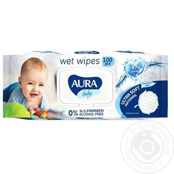 Aura wet wipes 100pcs