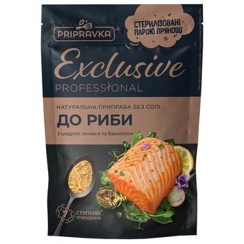 Pripravka Exclusive Professional For Fish Natural Without Salt Seasloning 45g - buy, prices for Metro - photo 4