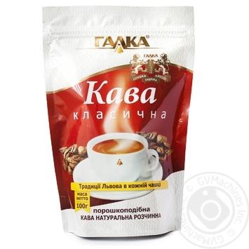 Кофе Галка натуральный растворимый порошкообразный 100г - купить, цены на Ашан - фото 1