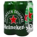 Пиво Heineken светлое 5% 4шт х 0,5л