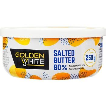 Масло Golden White вершкове солоне 80% 250г - купити, ціни на Восторг - фото 1