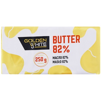 Golden White Unsalted Butter 82% 250g - buy, prices for Furshet - image 1