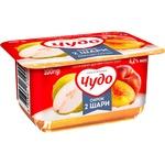 Cottage cheese Chudo peach-pear 4.2% 115g Ukraine - buy, prices for Furshet - image 1