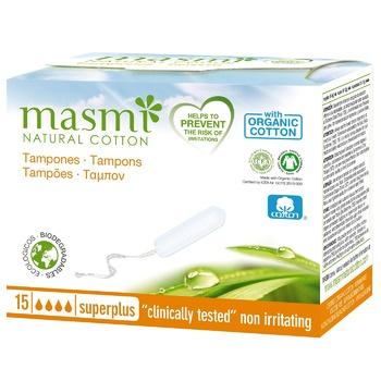 Тампоны Masmi Super Plus без аппликатора 15шт