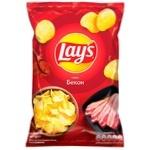Чипсы Lay's со вкусом бекона 133г - купить, цены на Ашан - фото 1