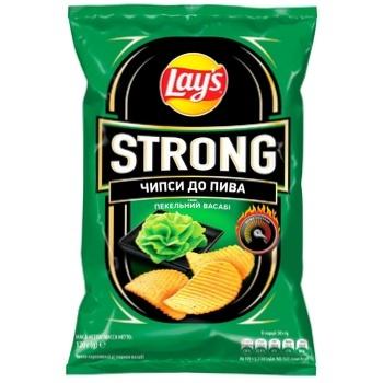 Чипсы Lay's Strong картофельные со вкусом острого васаби 120г