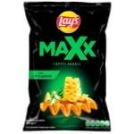 Чіпси Lays Maxx хвилясті зі смаком сиру та цибулі 120г