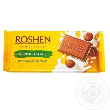 Roshen Classic Chopped Hazelnuts Milk Chocolate 90g - buy, prices for Novus - image 2