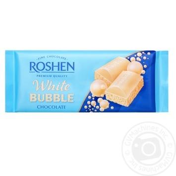 Шоколад Roshen белый пористый 80г