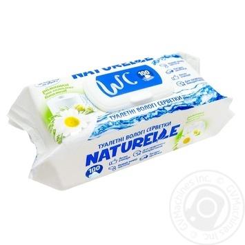 Бумага туалетная Naturelle Ромашка влажная 100шт