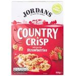 Crunches Jordans strawberries with cream 500g cardboard packaging