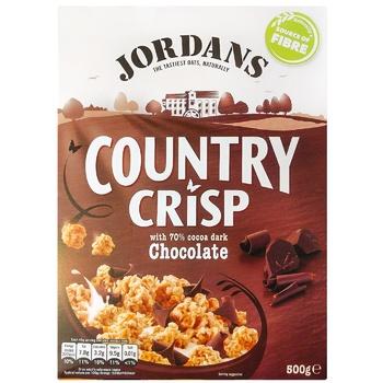 Кранчі Jordans Country Crisp з чорн.шокол.к.кор.500г - купити, ціни на CітіМаркет - фото 1