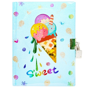 Блокнот детский Malevaro Angel Notes Мороженое 178x130мм 80л - купить, цены на Ашан - фото 1