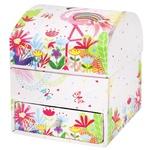 Malevaro Flamingo Cardboard Box for Jewelry 90x90x110mm