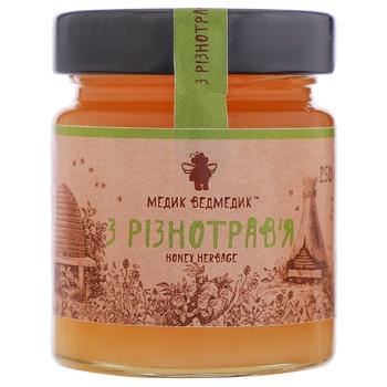 Honey Medyk vedmedyk polyfleur 250g glass jar - buy, prices for CityMarket - photo 1