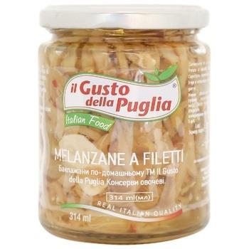 Баклажани Il Gusto della Puglia по-домашньому 314мл - купити, ціни на CітіМаркет - фото 1