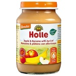 Puree Holle with apple from 6 months 190g glass jar - buy, prices for CityMarket - photo 1