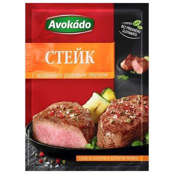 Приправа Avokado для стейків з зеленим та рожевим перцем 25г - купити, ціни на CітіМаркет - фото 1