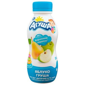 Йогурт Агуша для детей яблоко-груша с 8 месяцев 2.7% 200г