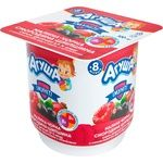 Agusha Cottage cheese raspberry-black currant-dog rose 3,9% 100g - buy, prices for Furshet - image 1