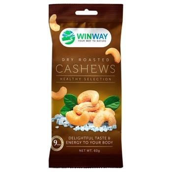 Орех WinWay кешью жареный соленый 60г