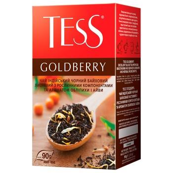 Чай чорний Tess Goldberry 90г - купити, ціни на Ашан - фото 1