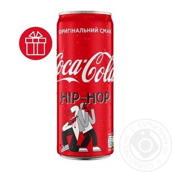 Напиток Coca-Cola сильногазированный ж/б 0,33л - купить, цены на Novus - фото 1
