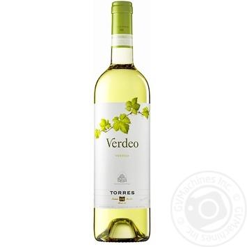 Вино Torres Verdeo біле сухе 12,5% 0,75л - купити, ціни на CітіМаркет - фото 1