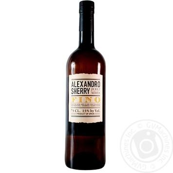 Вино Alexandro Sherry Fino Херес біле сухе 15% 0.75л