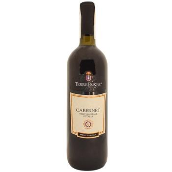 Вино Terre Passeri Cabernet Vino Varietale красное сухое 11,5% 0,75л - купить, цены на СитиМаркет - фото 1